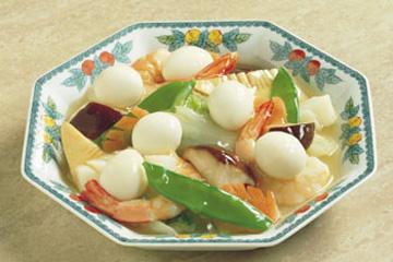うずら卵とシーフードの八宝菜