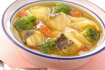 たらのカレースープ
